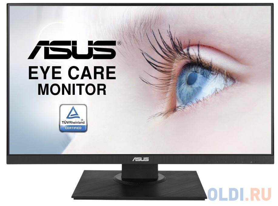 Фото - Монитор 24 ASUS VA24DQLB черный IPS 1920x1080 250 cd/m^2 5 ms (G-t-G) HDMI VGA DisplayPort Аудио USB 90LM0541-B01370 монитор 22 hp p22h g4 черный ips 1920x1080 250 cd m^2 5 ms displayport vga hdmi 7uz36aa