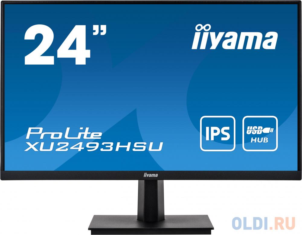 Монитор Iiyama 23.8 ProLite XU2493HSU-B1 черный IPS LED 16:9 HDMI M/M матовая 250cd 178гр/178гр 1920x1080 D-Sub DisplayPort FHD USB 3.3кг панель philips 49 49bdl4031d 00 черный led 12ms 16 9 dvi hdmi m m 1100 1 450cd 178гр 178гр 1920x1080 d sub displayport rca да fhd 14 8кг
