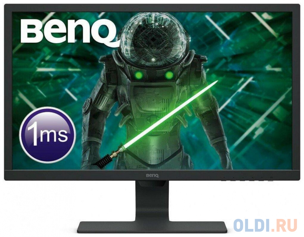 Монитор 24 BENQ GL2480E черный TN 1920x1080 250 cd/m^2 1 ms DVI HDMI VGA монитор benq 24 gl2480e tn 1920x1080 75hz 250cd m2 16 9