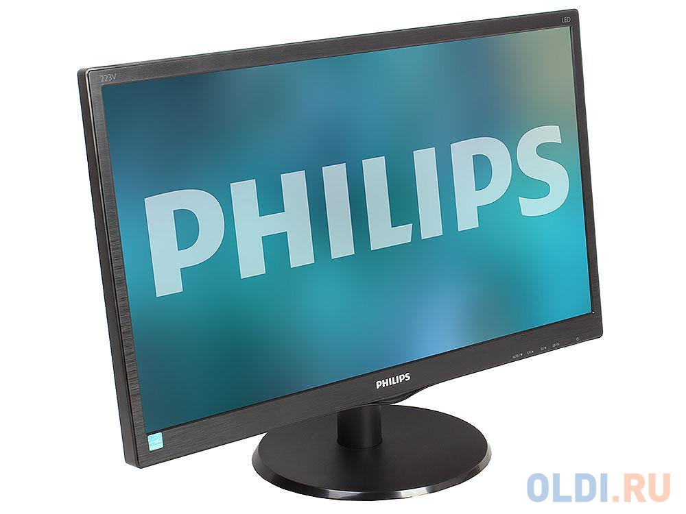Монитор 21.5 Philips 223V5LSB2/62(10) Black Hairline WLED, 1920x1080, 5ms, 200 cd/m2, 600:1 (DCR 10M:1), D-Sub, vesa монитор 27 philips 273v7qjab 00 01 black ips 1920x1080 5ms 250 cd m2 1000 1 dcr 10m 1 d sub hdmi dp 2wx2 headph out vesa