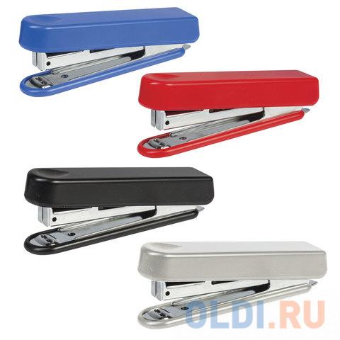 Степлер KW-trio N10 до 12 листов эргономичный ассорти (черный красный синий светло-серый) -5101.
