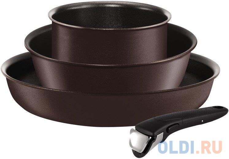 Фото - Набор посуды Tefal Ingenio Chef L6559702 4 предмета (2100096877) набор посуды tefal ingenio perfomance l6598902 8 предметов