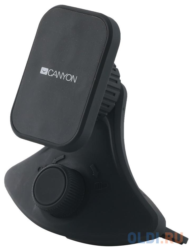 Автомобильный держатель Canyon Car Holder for Smartphones,magnetic suction function ,with 2 plates(rectangle/circle), black