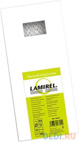 Фото - Lamirel Пружина пластиковая LA-7867401 (14 мм. Цвет: белый, 100 шт.) чистящие салфетки fellowes lamirel la 5144001 100 шт