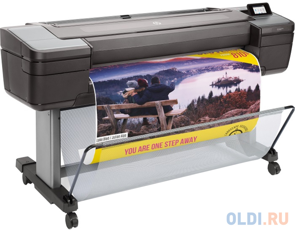 HP DesignJet Z6 PS Printer (44,6 colors, pigment ink, 2400x1200dpi,128 Gb(virtual),500 Gb HDD, GigEth/host USB type-A,stand,single sheet and roll feed,autocutter, PS, 1y warr) hp designjet z6 24 in postscript printer