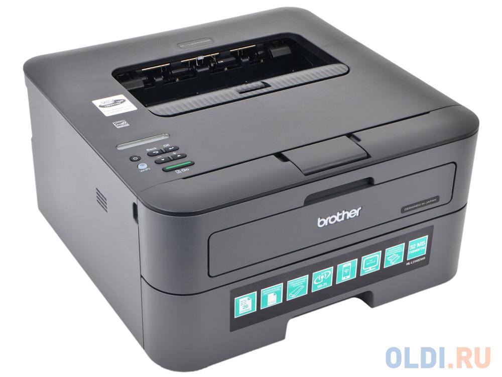 Принтер лазерный Brother HL-L2340DWR A4, 26стр/мин, дуплекс, 32Мб, USB, WiFi (замена HL-2240R, HL-2240DR)