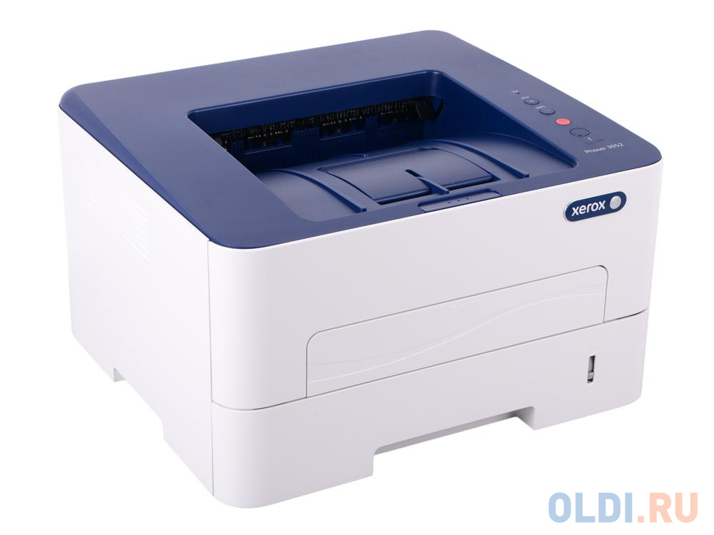 Принтер Xerox Phaser 3052V_NI (A4, лазерный, 26 стр/мин, до 30K стр/мес, 256 Mb, PCL 5e/6, PS3, USB, Ethernet, лоток 250 листов)