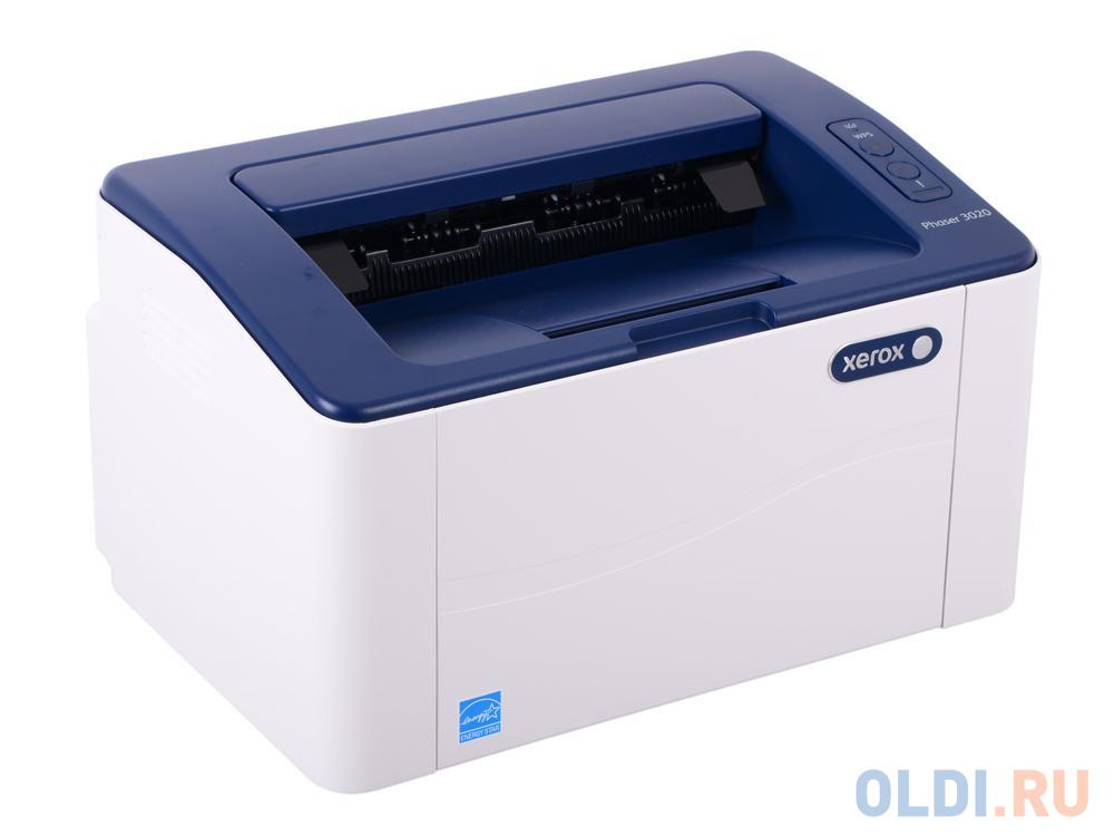 Принтер Xerox Phaser 3020V_BI Монохромная, A4, лазерный, 20 стр/мин, до 15K стр/мес, 128MB, GDI, Wi-Fi.