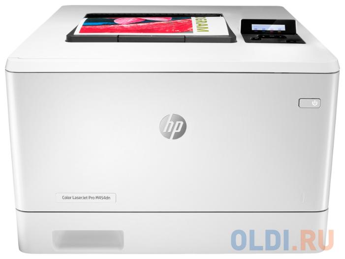 Принтер HP Color LaserJet Pro M454dn лазерный принтер лазерный hp color laserjet pro m255nw лазерный цвет белый [7kw63a]