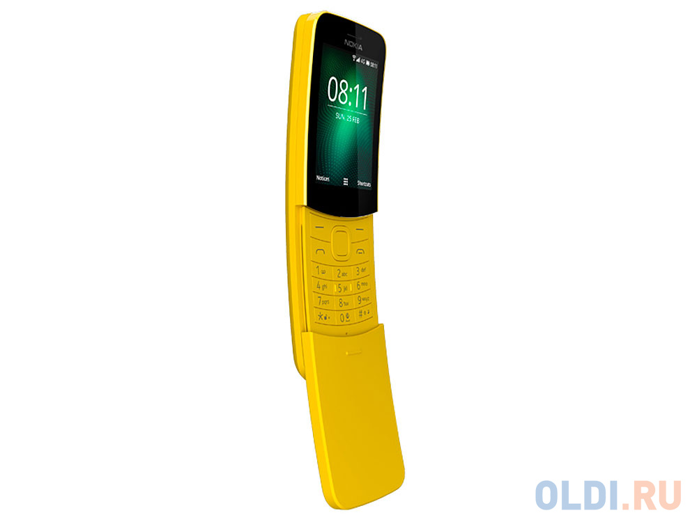Мобильный телефон NOKIA 8110 4G желтый 2.4