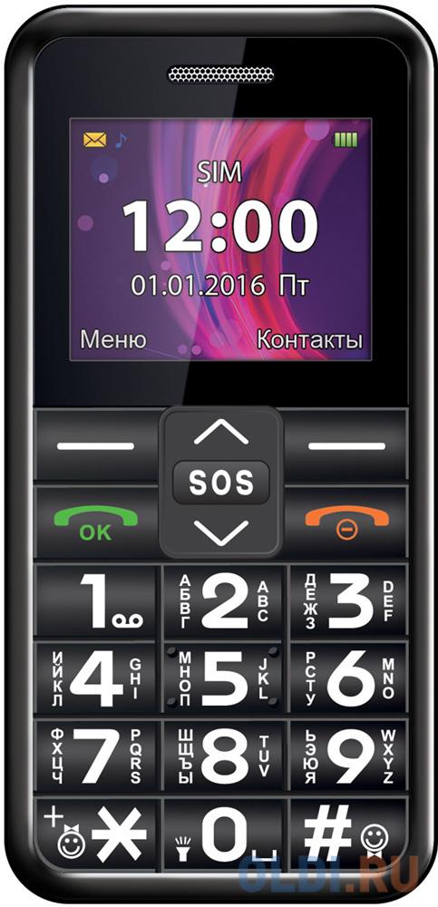 TEXET TM-101 Мобильный телефон цвет черный мобильный телефон texet tm d430 черный
