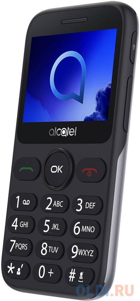 Телефон Alcatel 2019G серебристый 2.4 16 Мб Bluetooth 2019G-3BALRU1 телефон alcatel 2019g серый металлик