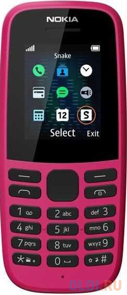 Мобильный телефон NOKIA 105 DS розовый 1.77