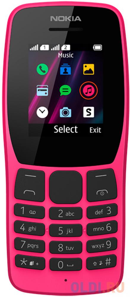 Мобильный телефон NOKIA 110DS розовый 1.77