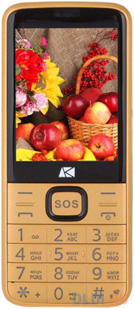Мобильный телефон ARK Power 4 золотистый 2.8