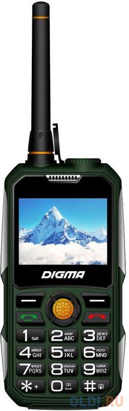"""Мобильный телефон Digma Linx A230WT 2G зеленый 2.31"""" Bluetooth"""