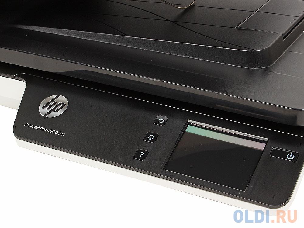 Сканер HP ScanJet Pro 4500 fn1 планшетный, А4, ADF, дуплекс, 30стр/мин, 1200dpi, 24bit, USB 3.0, LAN, WiFi