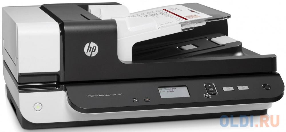 Сканер HP ScanJet Enterprise Flow 7500 L2725B планшетный, А4, ADF 100 листов, 50 стр/мин, 600dpi, 24bit, USB