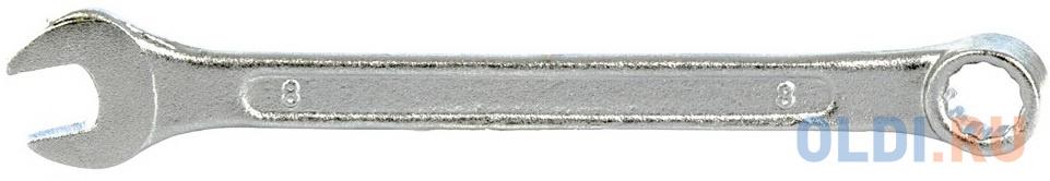 Ключ комбинированный, 8 мм, хромированный// Sparta ключ комбинированный 10 мм хромированный sparta