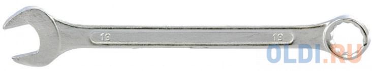 Ключ комбинированный, 19 мм, хромированный// Sparta ключ комбинированный 10 мм хромированный sparta