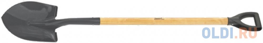 Лопата СИБРТЕХ 61456 штыковая для сыпучих грузов черенок