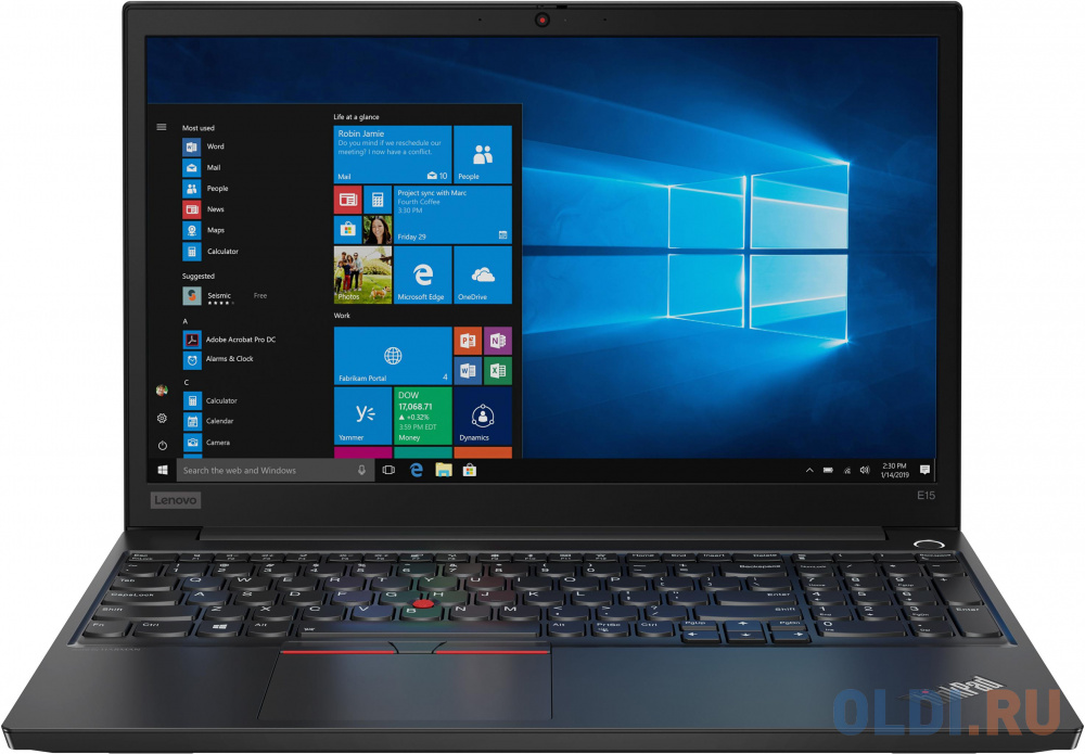 "Ноутбук Lenovo ThinkPad E15 15.6"" 1920x1080 Intel Core i7-10510U 512 Gb 16Gb WiFi (802.11 b/g/n/ac/ax) Bluetooth 5.0 AMD Radeon RX 640 2048 Мб черный Windows 10 Professional 20RD0011RT"