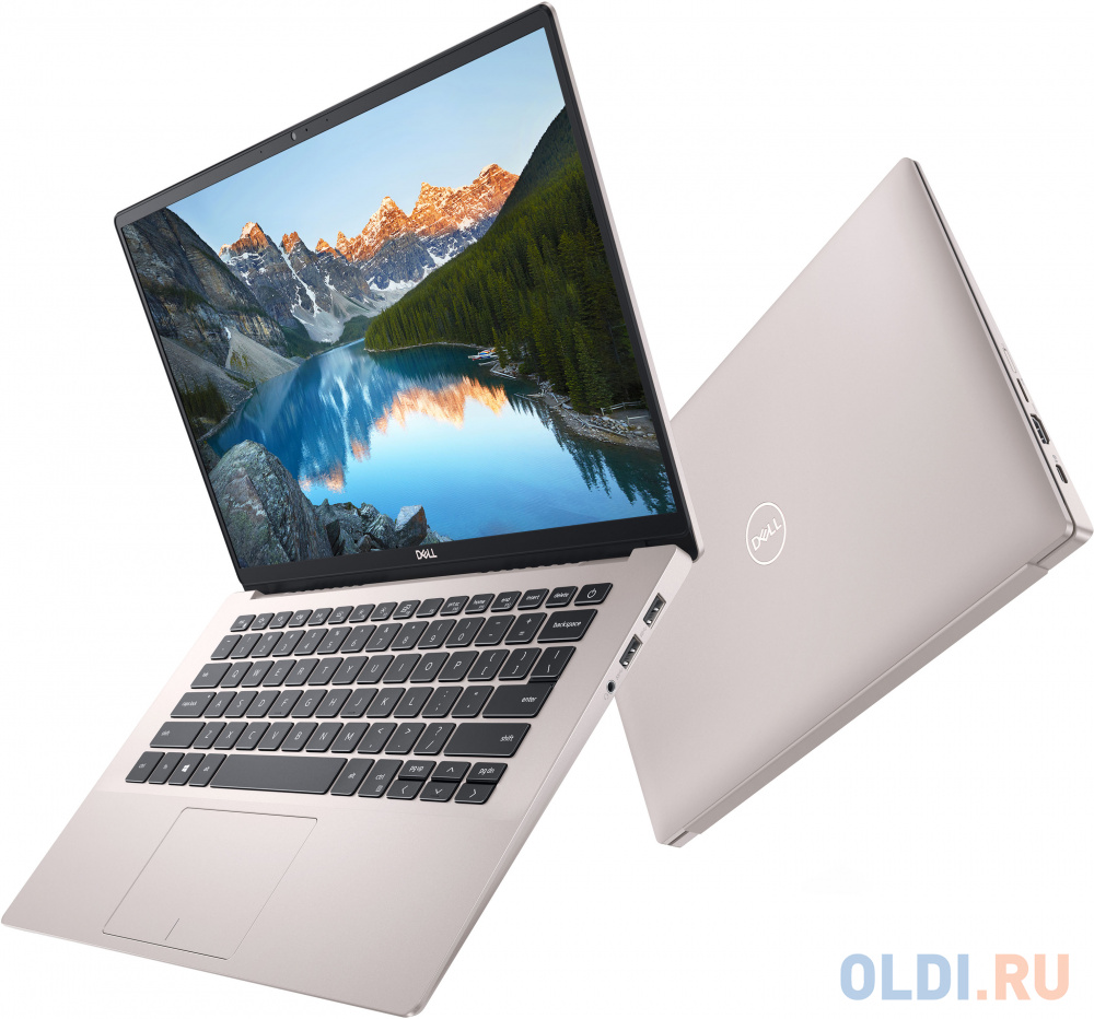 Ноутбук DELL Inspiron 7490 14 1920x1080 Intel Core i7-10510U 512 Gb 16Gb Bluetooth 5.0 nVidia GeForce MX250 2048 Мб розовый Windows 10 Home 7490-7070 моноблок hp 24 f0146ur intel core i7 9700t 2000 mhz 23 8 1920x1080 16gb 256gb ssd no dvd nvidia geforce mx110 2gb wi fi bluetooth windows 10