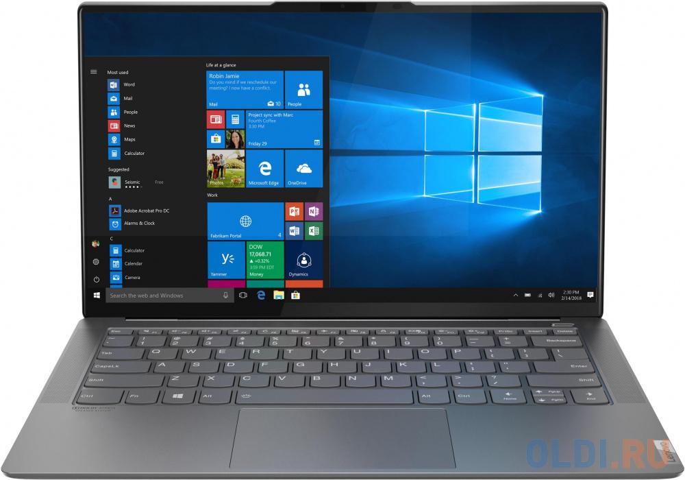"Ноутбук Lenovo Yoga S940-14IIL 14"" 3840x2160 Intel Core i5-1035G4 512 Gb 16Gb WiFi (802.11 b/g/n/ac/ax) Bluetooth 5.0 Intel Iris Plus Graphics серый Windows 10 Home 81Q80033RU"