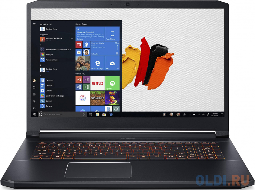 "Ноутбук Acer ConceptD 5 CN517-71-74VU Core i7 9750H/32Gb/1Tb/SSD512Gb+512Gb/nVidia GeForce RTX 2060 6Gb/17.3""/IPS/UHD (3840x2160)/Windows 10 Professional/black/WiFi/BT/Cam/3815mAh"