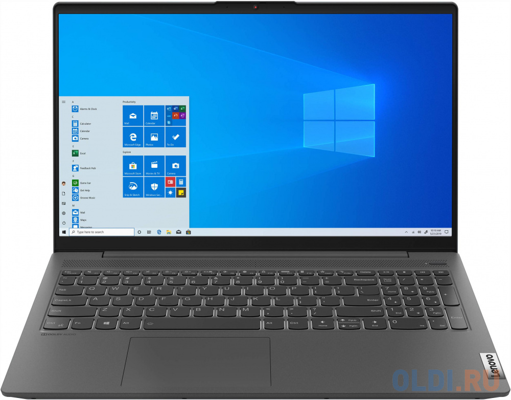 "Ноутбук Lenovo IdeaPad IP5 15IIL05 Core i3 1005G1/8Gb/SSD512Gb/Intel UHD Graphics/15.6""/IPS/FHD (1920x1080)/Windows 10/grey/WiFi/BT/Cam"