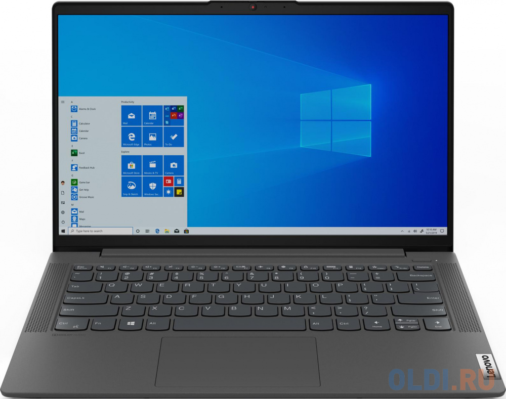 "Ноутбук Lenovo IdeaPad IP5 14IIL05 14"" 1920x1080 Intel Core i3-1005G1 512 Gb 8Gb Intel UHD Graphics серый Без ОС 81YH0065RK"