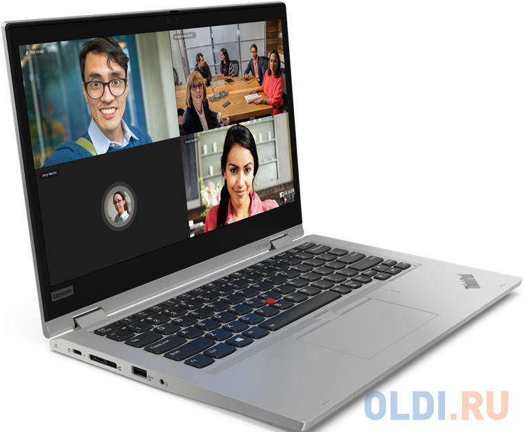 "Ноутбук Lenovo ThinkPad L13 Yoga 13.3"" 1920x1080 Intel Core i5-10210U 256 Gb 8Gb Bluetooth 5.0 Intel UHD Graphics серебристый Windows 10 Professional 20R50006RT"