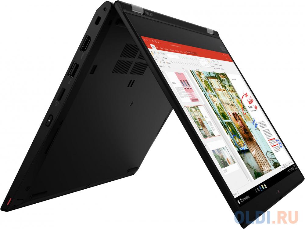 "Ультрабук Lenovo ThinkPad Yoga L13 13.3"" 1920x1080 Intel Core i3-10110U 256 Gb 8Gb Bluetooth 5.0 Intel UHD Graphics 620 черный Windows 10 Professional 20R50002RT"