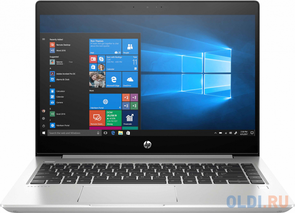 "Ноутбук HP ProBook 445R G6 14"" 1920x1080 AMD Ryzen 5-3500U 256 Gb 8Gb AMD Radeon Vega 8 Graphics серебристый Windows 10 Professional 7DD90EA"