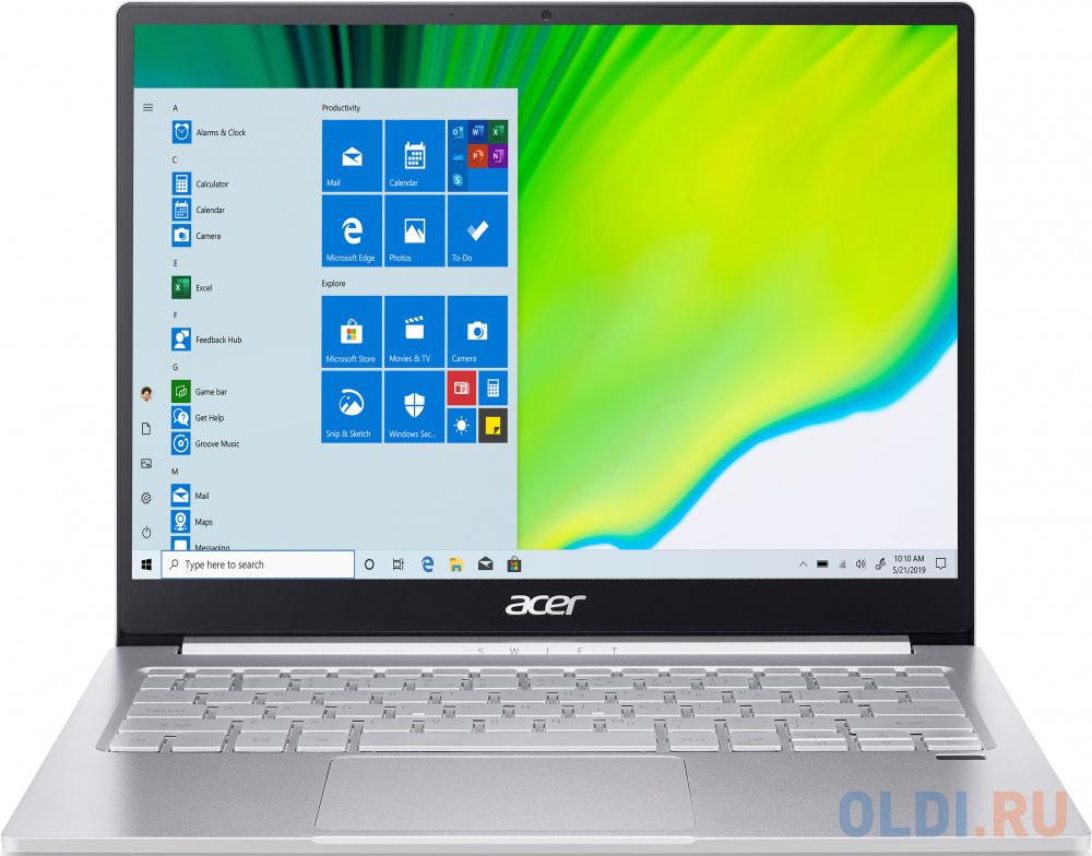 "Ноутбук Acer Swift 3 SF313-52G 13.5"" 2256x1504 Intel Core i5-1035G4 512 Gb 8Gb WiFi (802.11 b/g/n/ac/ax) Bluetooth 5.0 nVidia GeForce MX350 2048 Мб серебристый Linux NX.HZPER.001"