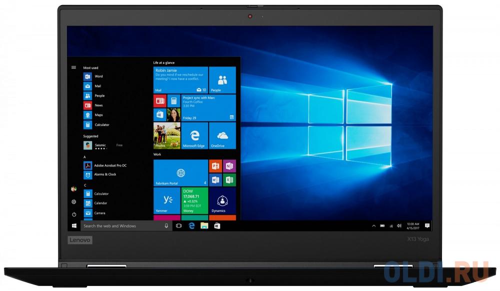 "Ультрабук Lenovo ThinkPad X13 Yoga Gen 1 13.3"" 1920x1080 Intel Core i5-10210U 512 Gb 16Gb WiFi (802.11 b/g/n/ac/ax) Bluetooth 5.0 Intel UHD Graphics черный Windows 10 Professional 20SX001GRT"