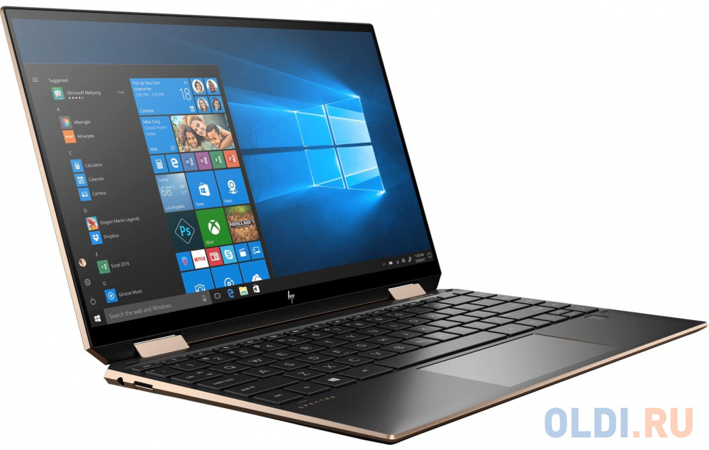 "Ноутбук HP Spectre x360 13-aw0033ur 13.3"" 1920x1080 Intel Core i5-1035G4 512 Gb 8Gb WiFi (802.11 b/g/n/ac/ax) Bluetooth 5.0 Intel Iris Plus Graphics черный Windows 10 Home 22M50EA"