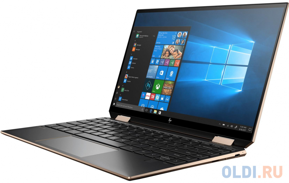 "Ноутбук HP Spectre x360 13-aw0036ur 13.3"" 1920x1080 Intel Core i7-1065G7 512 Gb 16Gb WiFi (802.11 b/g/n/ac/ax) Bluetooth 5.0 Intel Iris Plus Graphics черный Windows 10 Home 22P47EA"