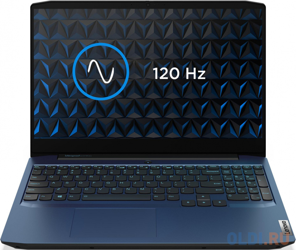 "Ноутбук Lenovo IP Gaming 3 15IMH05 Core i7 10750H/8Gb/SSD512Gb/NVIDIA GeForce GTX 1650 Ti 4Gb/15.6""/IPS/FHD (1920x1080)/Free DOS/blue/WiFi/BT/Cam"
