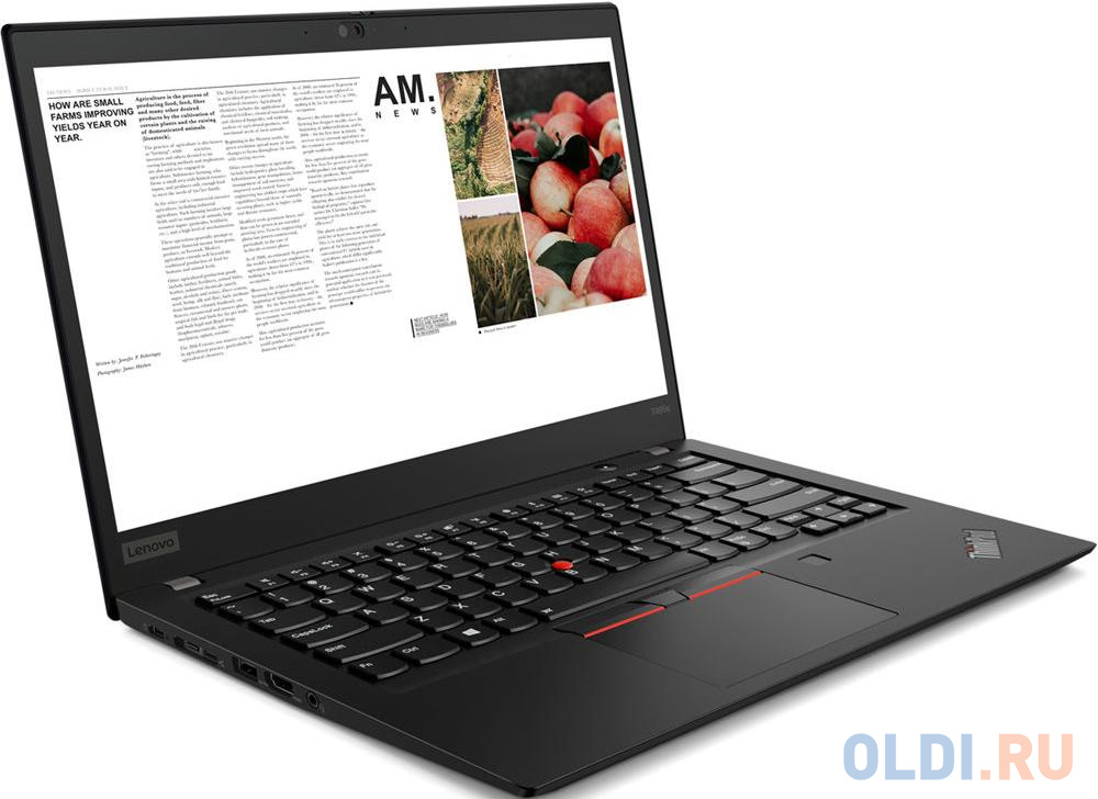 "Ноутбук Lenovo ThinkPad T495s 14"" 1920x1080 AMD Ryzen 7-3700U 512 Gb 16Gb Bluetooth 5.0 Radeon RX Vega 10 Graphics черный Windows 10 Professional 20QJ0012RT"