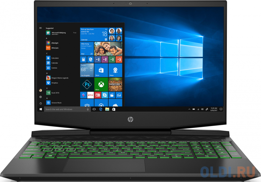 "Ноутбук HP Pavilion Gaming 15-dk1036ur 15.6"" 1920x1080 Intel Core i5-10300H 512 Gb 16Gb Bluetooth 5.0 nVidia GeForce GTX 1650 4096 Мб черный DOS 22N27EA"