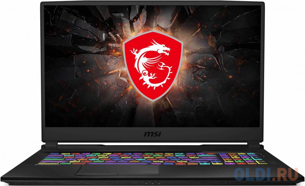 "Ноутбук MSI GL75 Leopard 10SCSR-045XRU Core i7 10750H/8Gb/1Tb/SSD256Gb/NVIDIA GeForce GTX 1650 Ti 4Gb/17.3""/FHD (1920x1080)/Free DOS/black/WiFi/BT/Cam"