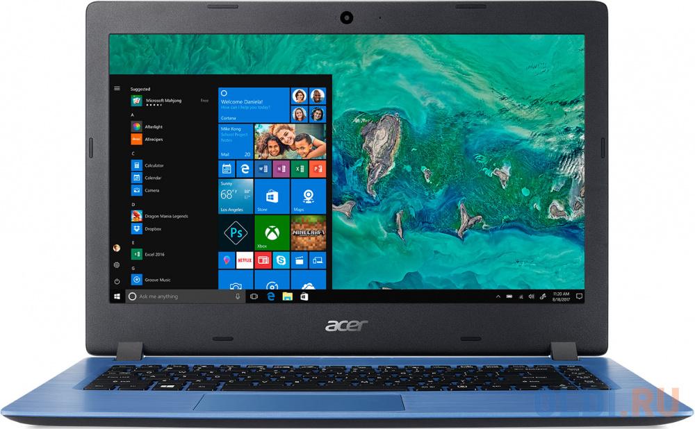 "Ноутбук Acer Aspire A114-32-C4F6 14"" 1920x1080 Intel Celeron-N4000 64 Gb 4Gb Intel UHD Graphics 600 синий Windows 10 Home NX.GW9ER.004"