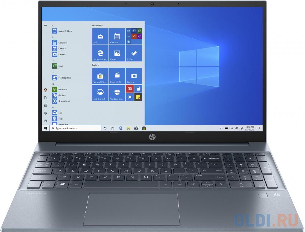 Ноутбук HP Pavilion 15-eg0060ur <2S2Y9EA> i5-1135G7 (2.4)/8G/512G SSD/15.6&#039;&#039;FHD AG IPS/Int:Intel Iris Xe/noODD/Win10 (Fog Blue)