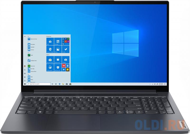 "Ультрабук Lenovo Yoga Slim7 15ITL05 15.6"" 1920x1080 Intel Core i5-1135G7 512 Gb 16Gb WiFi (802.11 b/g/n/ac/ax) Bluetooth 5.0 Intel Iris Xe Graphics серый Windows 10 Home 82AC001URU"