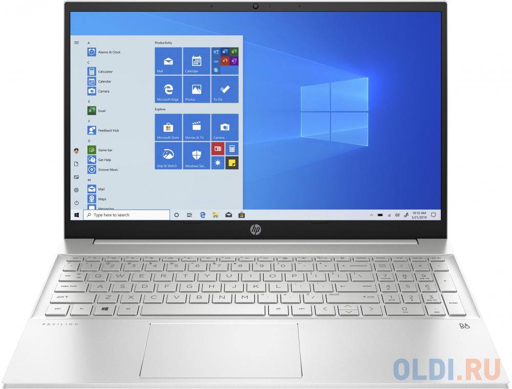 """Ноутбук 15.6"""" IPS FHD HP Pavilion 15-eh0002ur silver (AMD Ryzen 3 4300U/4Gb/256Gb SSD/noDVD/VGA int/W10) (281A1EA)"""
