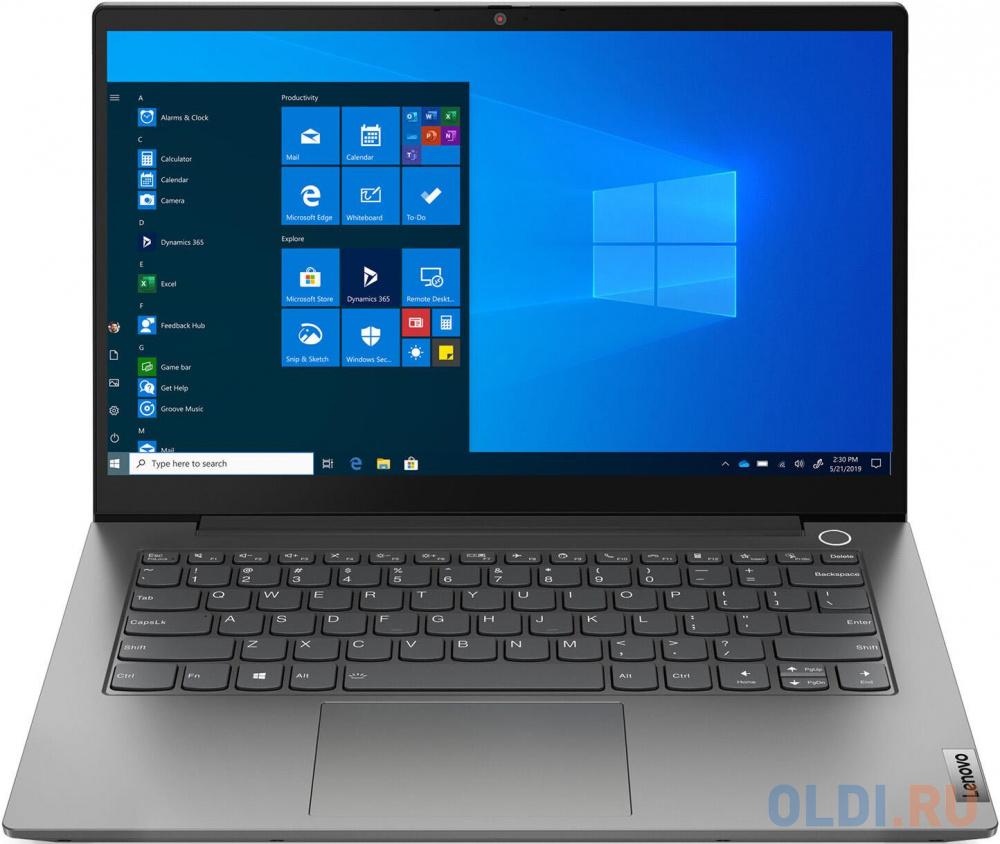 """Ноутбук 14"""" FHD Lenovo Thinkbook 14 G2 ARE grey (AMD Ryzen 5 4500U/8Gb/256Gb SSD/noDVD/VGA int/FP/DOS) (20VF003BRU)"""