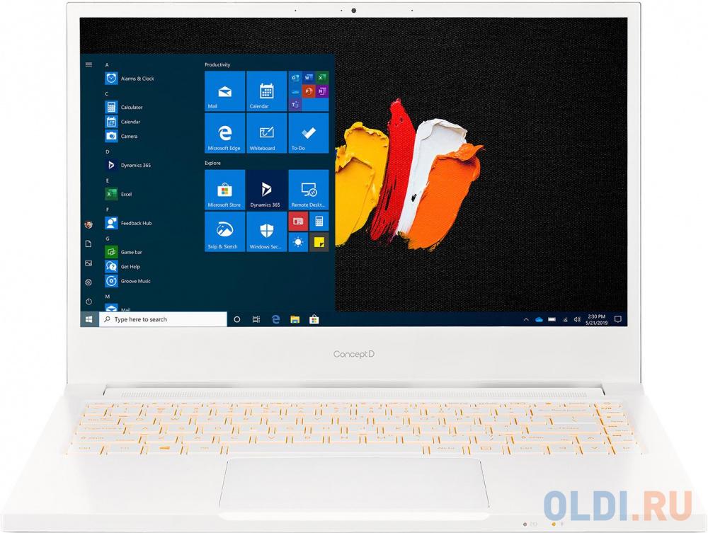 "Ультрабук Acer ConceptD 3 CN314-72G-77XW 14"" 1920x1080 Intel Core i7-10750H 1024 Gb 16Gb WiFi (802.11 b/g/n/ac/ax) Bluetooth 5.0 nVidia GeForce GTX 1650 Ti 4096 Мб белый Windows 10 Professional NX.C5UER.003"