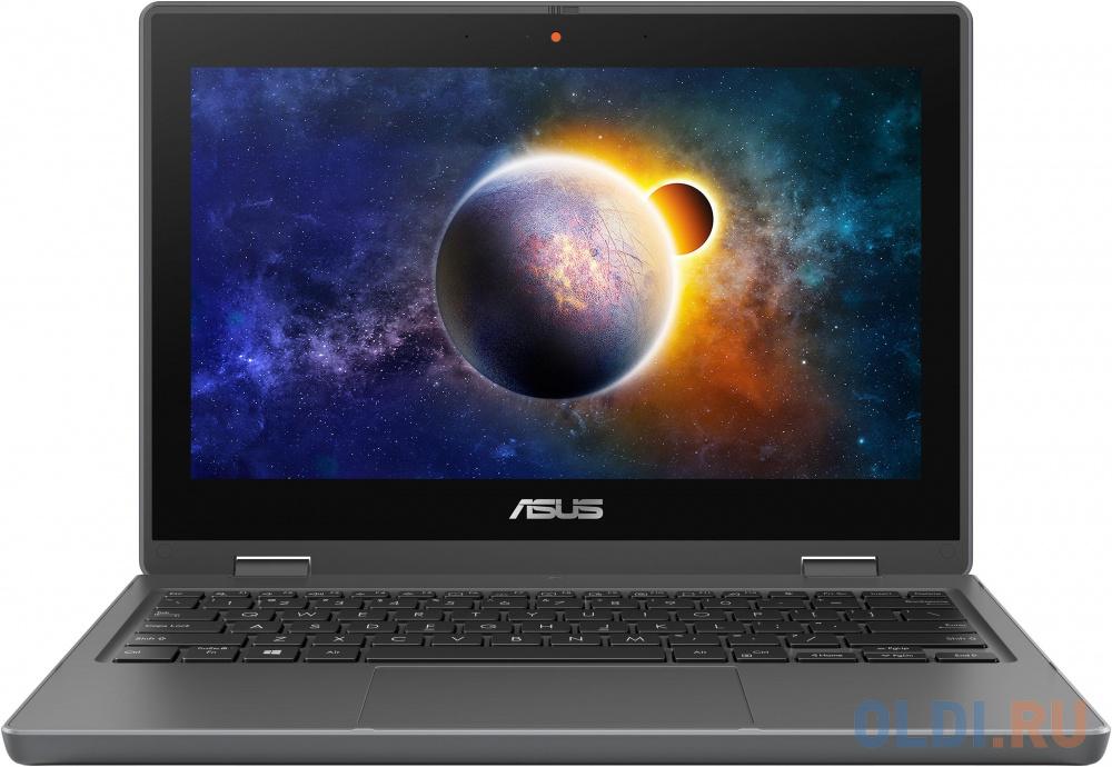 """ASUSPRO BR1100FKA-BP0355R Pentium Silver N6000/4Gb/128Gb eMMC/11,6""""HD Touch (1366 x 768) GL/1 x VGA/1 x HDMI /RG45/WiFi5/BT/Cam/Windows 10 Pro/1,4Kg/Dark Grey/MIL-STD 810G"""