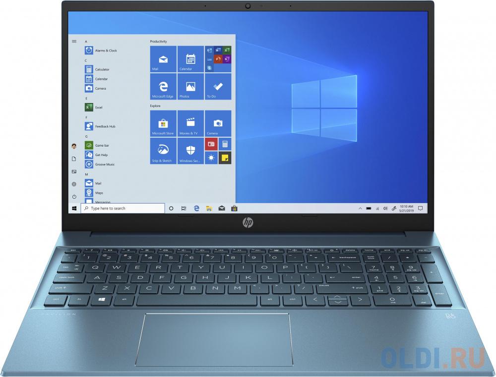 "Ноутбук HP Pavilion 15-eg0099ur 15.6"" FHD, Intel Core i3-1125G4, 8Gb, 512Gb SSD, no ODD, Win10, зеленый"